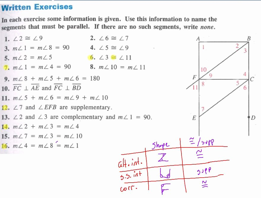 Proving Lines Parallel Worksheet Unique Geo Trig 3 3 Proving Lines Parallel 2