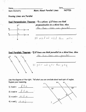 Proving Lines Parallel Worksheet Unique Proving Lines Parallel Worksheet C