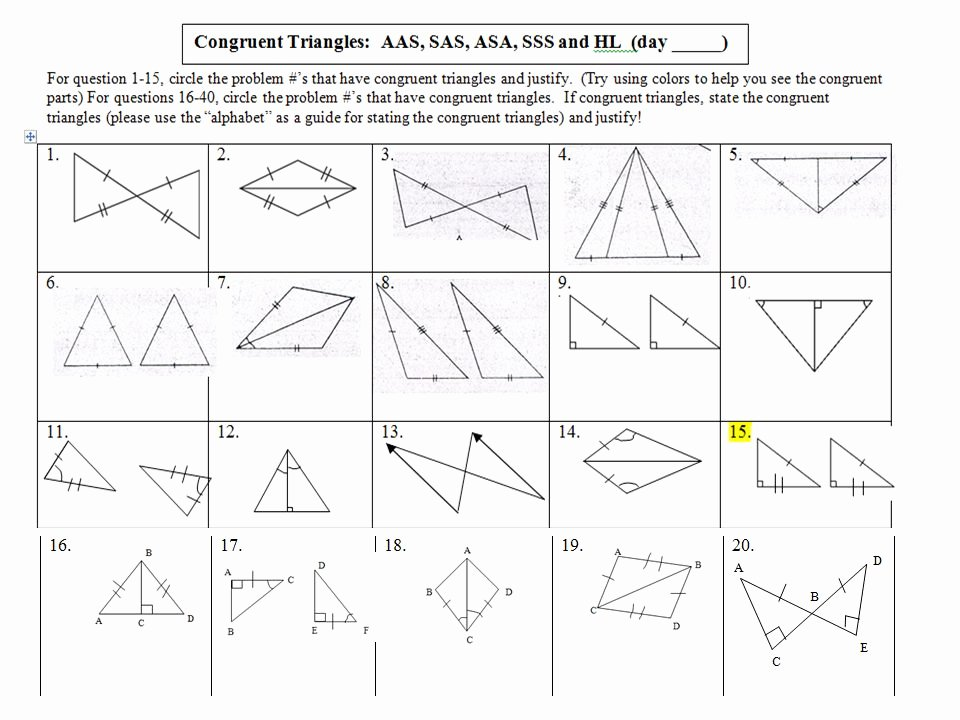 Proving Triangles Congruent Worksheet Answers Beautiful Proving Triangles Congruent Worksheet Answers the Best