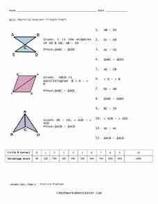 Proving Triangles Congruent Worksheet Beautiful Quiz Beginning Congruent Triangle Proofs 10th 11th