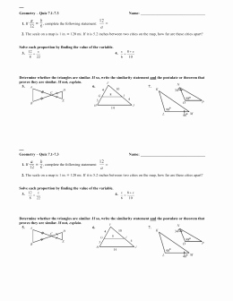 Proving Triangles Similar Worksheet Beautiful 7 3 Proving Triangles Similar