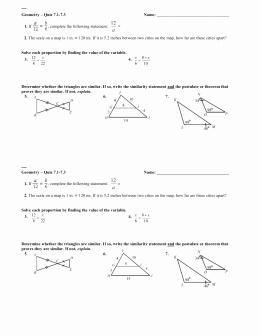 Proving Triangles Similar Worksheet Beautiful 7 3 Proving Triangles Similar