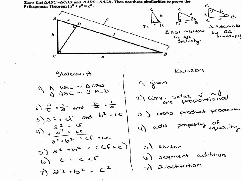 Proving Triangles Similar Worksheet Best Of Pythagorean theorem Proof Students are asked to Prove the