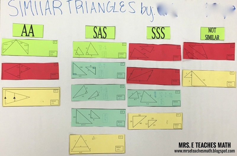 Proving Triangles Similar Worksheet Best Of Similar Triangles Cut and Match Activity