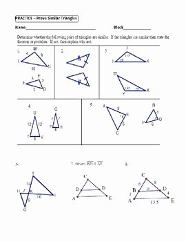 Proving Triangles Similar Worksheet Elegant Geometry Unit 9 Prove Similar Triangles by Aa Sas Sss