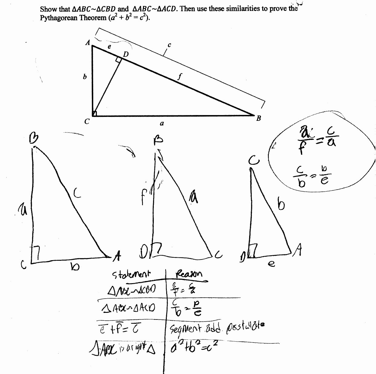 Proving Triangles Similar Worksheet Fresh Proving Similar Triangles Worksheets