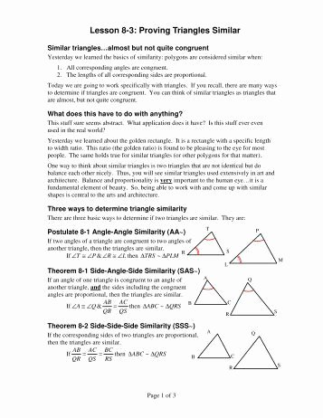 Proving Triangles Similar Worksheet Inspirational Proving Triangles Congruent Sss Sas asa and Aas My Ccsd