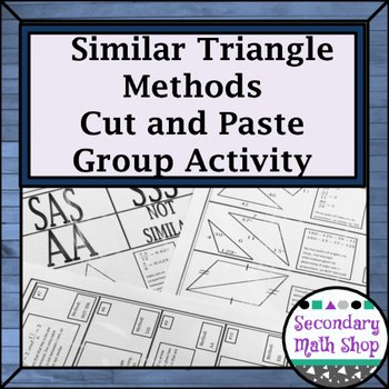 Proving Triangles Similar Worksheet Lovely Proving Triangles Similar Cut Match & Paste Group