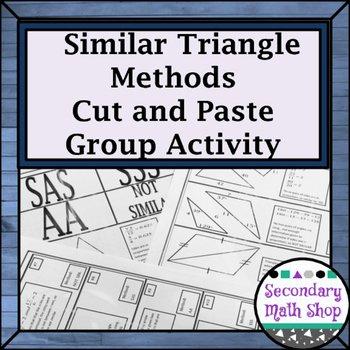 Proving Triangles Similar Worksheet Lovely Proving Triangles Similar Cut Match & Paste Group