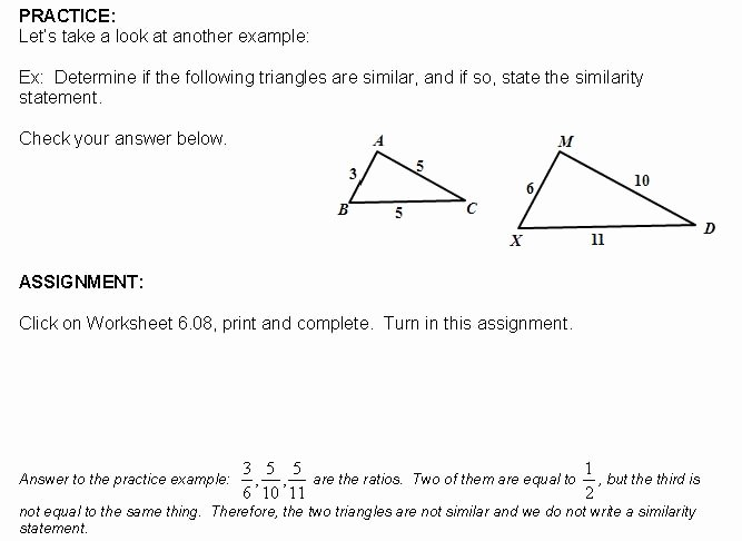 Proving Triangles Similar Worksheet Luxury Cosgeometry Lesson 6 08 Proving Triangles Similar by Sss