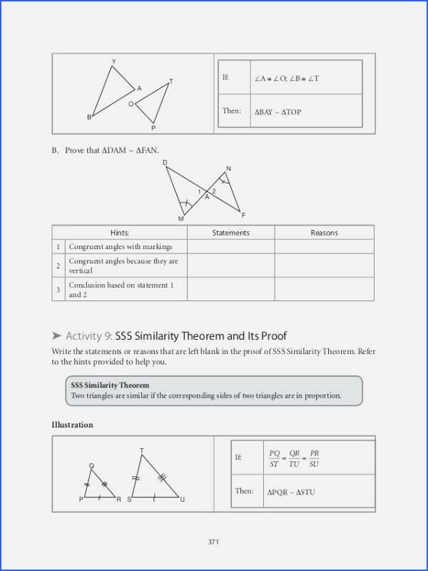 Proving Triangles Similar Worksheet Luxury Proving Triangles Similar Worksheet