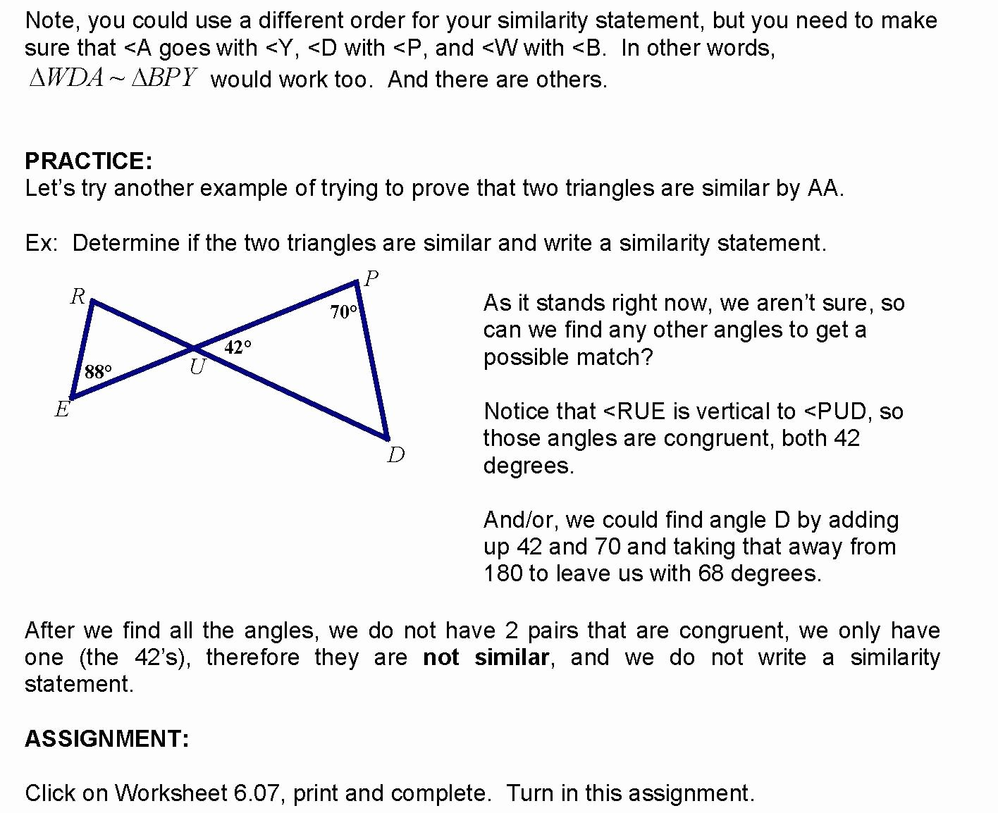 Lesson 6 07 Proving triangles similar by AA
