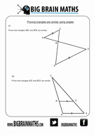 Proving Triangles Similar Worksheet New Every Worksheet for Similar Triangles and Shapes by