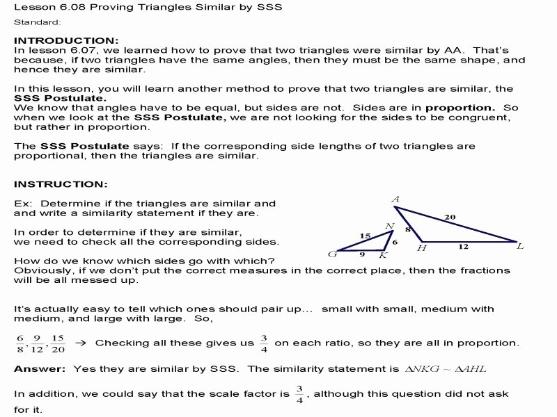 Proving Triangles Similar Worksheet Unique Proving Triangles Similar Worksheet Free Printable