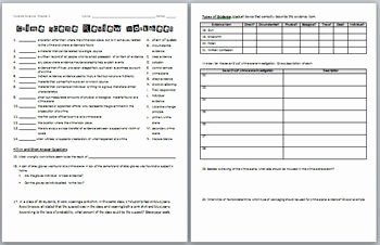 Prufrock Analysis Worksheet Answers Beautiful forensic Science Crime Scene Review Worksheet and Answer