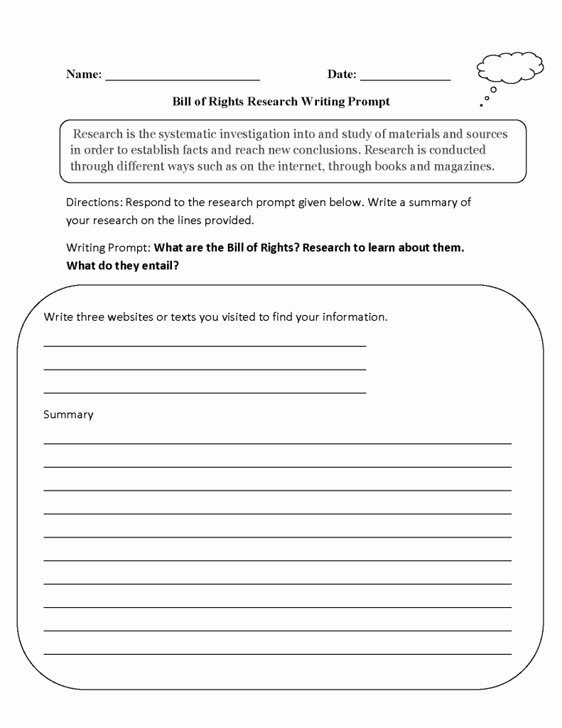 Prufrock Analysis Worksheet Answers Fresh Writing Prompt Worksheets Math for Kindergarten Free Pdf