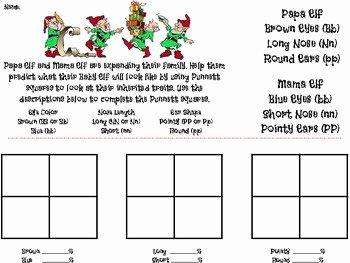 Punnett Square Practice Problems Worksheet Fresh Elf Heredity Punnett Square Practice by Catherine T