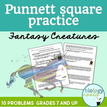 Punnett Square Practice Problems Worksheet Unique Genetics Punnett Square Practice Worksheet by Biology