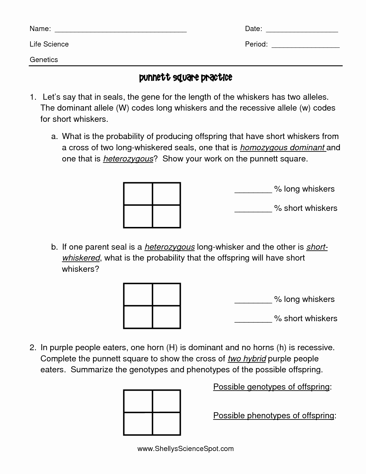 Punnett Square Practice Worksheet Answers Fresh 15 Best Of Punnett Square Worksheet Answer Key