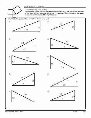 Pythagoras theorem Worksheet Pdf Luxury Pythagorean theorem Worksheet Pdf