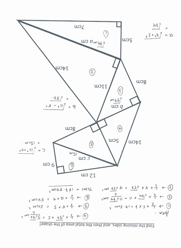 Pythagoras theorem Worksheet with Answers Elegant Pythagoras theorem Stack Up by Katylnewman