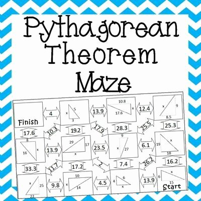 Pythagoras theorem Worksheet with Answers Inspirational Pythagorean theorem Maze and Mathematics On Pinterest