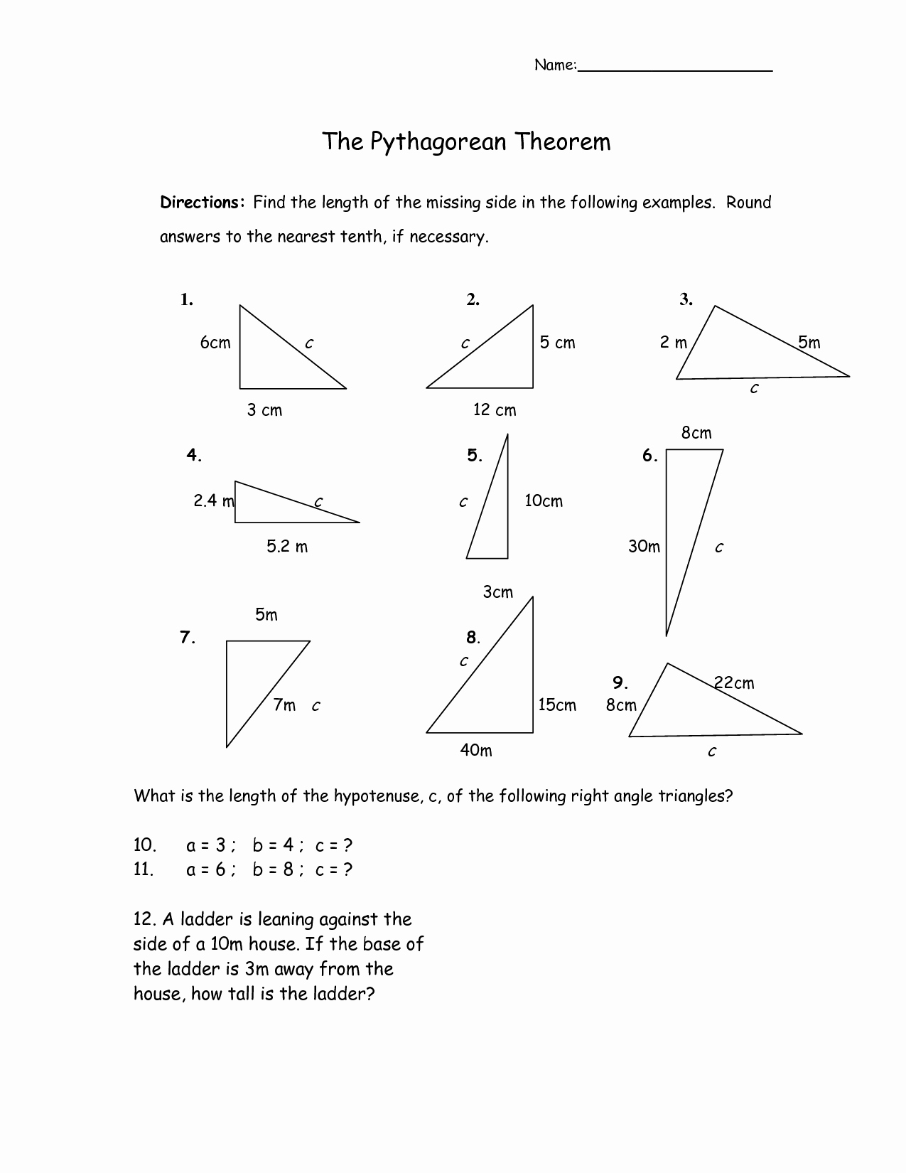 Pythagoras theorem Worksheet with Answers New 11 Best Of Fun Chemistry Worksheets Pythagorean
