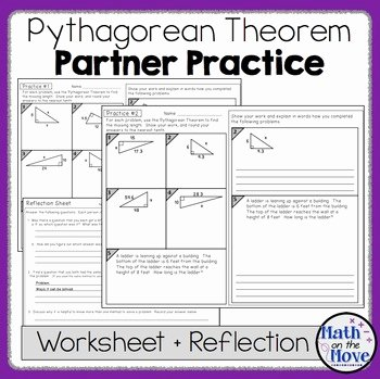 Pythagorean theorem Practice Worksheet Awesome Pythagorean theorem Partner Practice and Reflection