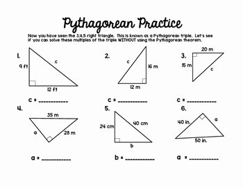 Pythagorean theorem Practice Worksheet Awesome Pythagorean theorem Set by Middle School Math Lover