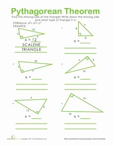 Pythagorean theorem Practice Worksheet Best Of 1000 Images About Pythagorean theorem On Pinterest