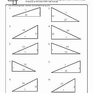 Pythagorean theorem Practice Worksheet Fresh Worksheets to Practice Pythagorean theorem Problems