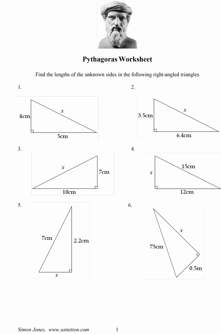 Pythagorean theorem Practice Worksheet Lovely 48 Pythagorean theorem Worksheet with Answers [word Pdf]