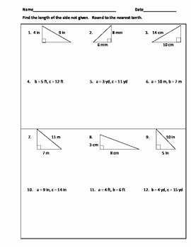 Pythagorean theorem Practice Worksheet Luxury Pythagorean theorem Practice Worksheet or Warm Ups by Tj