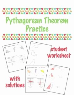 Pythagorean theorem Practice Worksheet Luxury This Worksheet Has 5 Word Application Level Word Problems