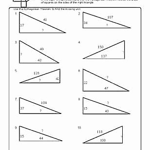 Pythagorean theorem Practice Worksheet Luxury Worksheets to Practice Pythagorean theorem Problems