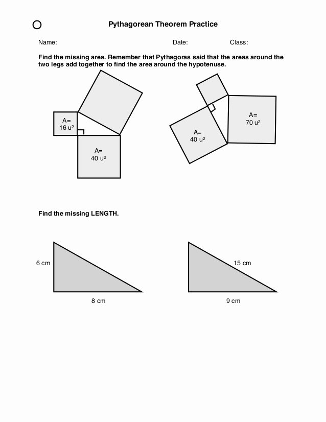 Pythagorean theorem Practice Worksheet New Pythagorean Practice
