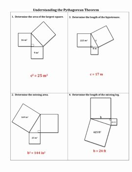 Pythagorean theorem Practice Worksheet New Understanding the Pythagorean theorem Worksheet by No
