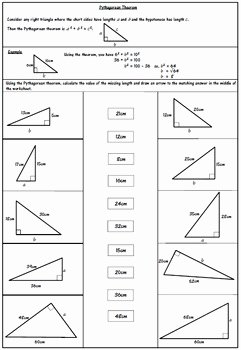 Pythagorean theorem Practice Worksheet Unique Pythagorean theorem Worksheet by 123 Math