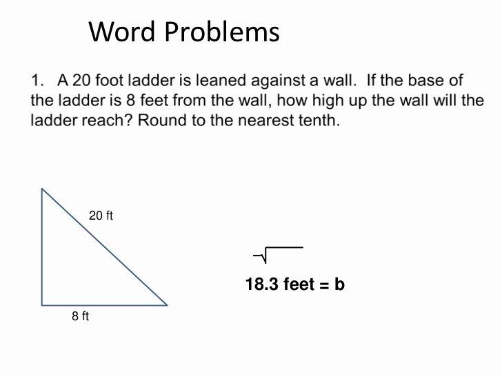 Pythagorean theorem Word Problems Worksheet Awesome 5 Geometry Pythagorean theorem