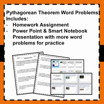 Pythagorean theorem Word Problems Worksheet Inspirational Pythagorean theorem Word Problems 8 G 7 by Math In the