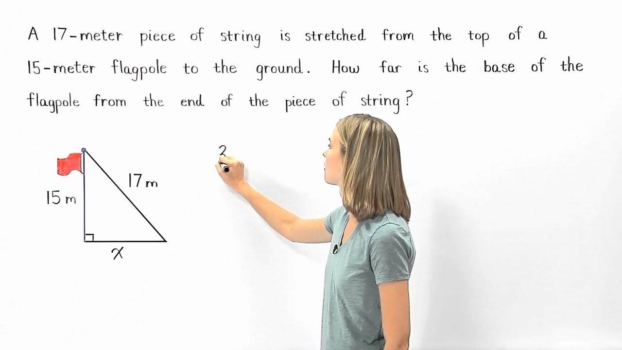 Pythagorean theorem Word Problems Worksheet Lovely Pythagorean theorem Word Problems