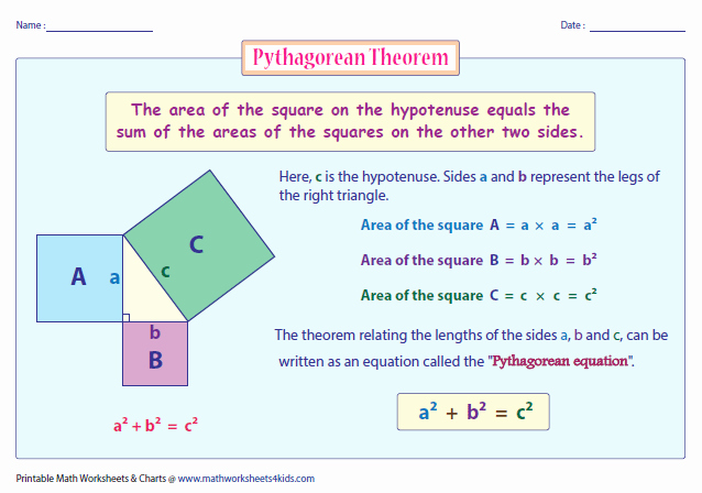 Pythagorean theorem Word Problems Worksheet Luxury Pythagorean theorem Worksheets