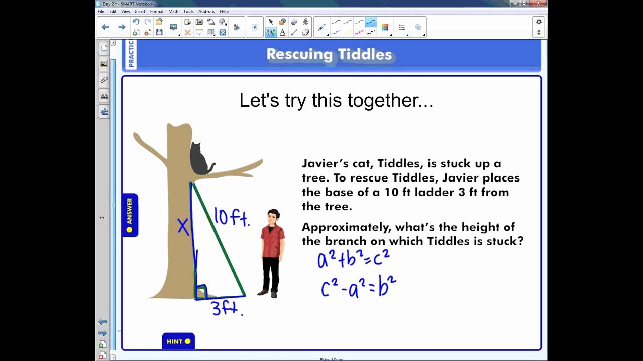Pythagorean theorem Word Problems Worksheet Unique Pythagorean theorem with Word Problems