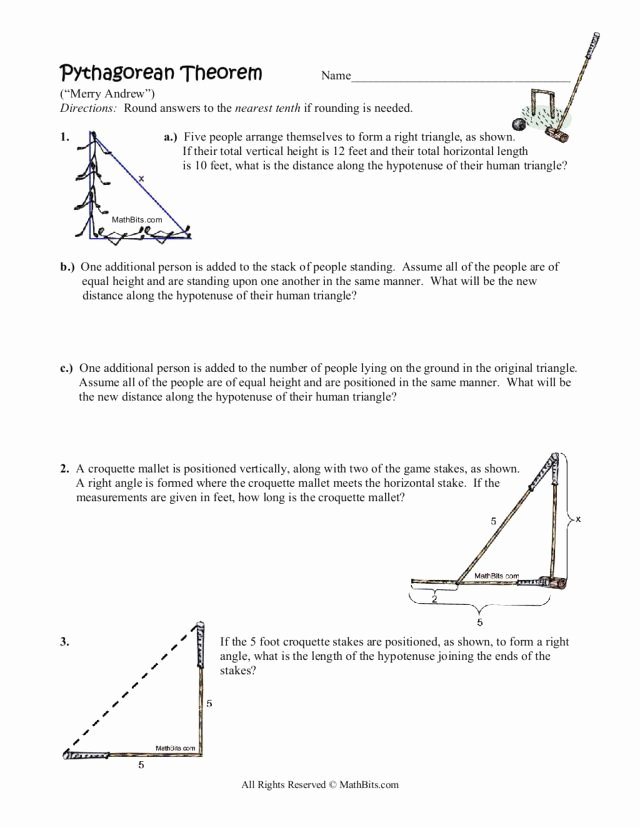 Pythagorean theorem Worksheet 8th Grade Awesome Printables Pythagorean theorem Word Problems Worksheet