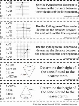Pythagorean theorem Worksheet 8th Grade Beautiful 8th Grade Pythagorean theorem Game Free