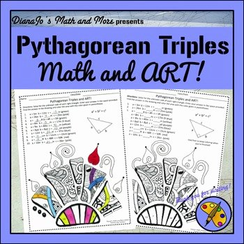 Pythagorean theorem Worksheet 8th Grade Best Of 8th Grade Math Pythagorean Triples and Art Worksheet by