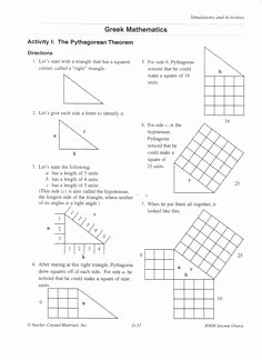 Pythagorean theorem Worksheet 8th Grade Best Of Introduction to Pythagorean theorem Activity