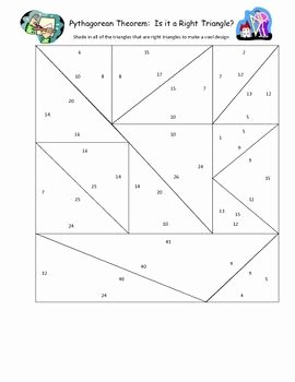 Pythagorean theorem Worksheet 8th Grade Fresh Pythagorean theorem Practice is It A Right Triangle Fun