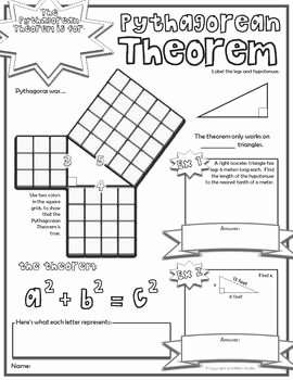 Pythagorean theorem Worksheet 8th Grade New Pythagorean theorem Doodle Notes Notes