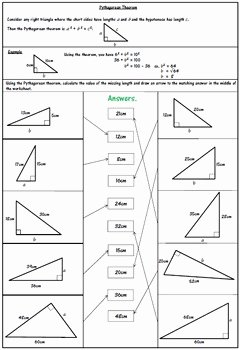 Pythagorean theorem Worksheet 8th Grade New Pythagorean theorem Worksheet by 123 Math